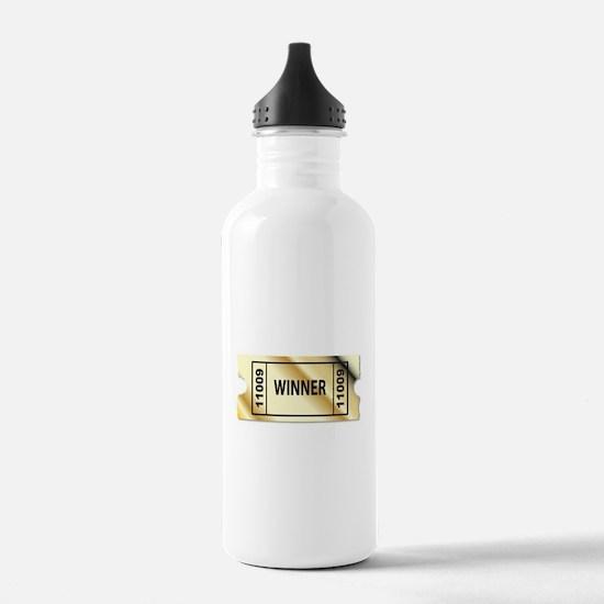 Golden Winner Ticket Water Bottle
