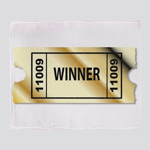Golden Winner Ticket Throw Blanket