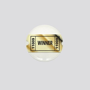 Golden Winner Ticket Mini Button