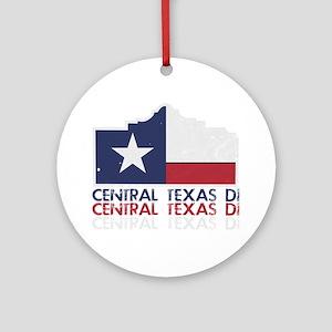 Central Texas DI Grunge Round Ornament