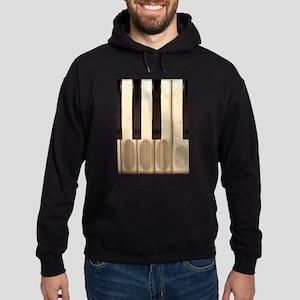 Old Worn Piano Keys Hoodie (dark)