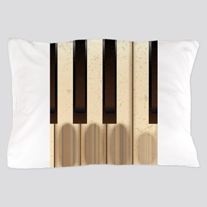 Old Worn Piano Keys Pillow Case