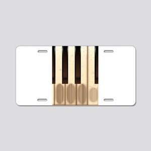 Old Worn Piano Keys Aluminum License Plate