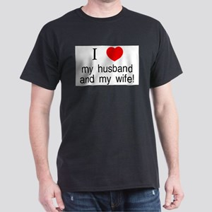 I <3 my husband &amp; my wife Ash Grey T-Shirt