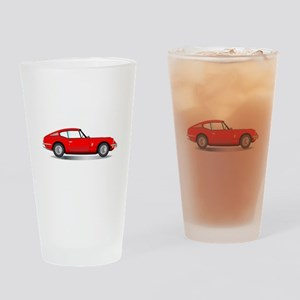 Old Hard Top Sports Car Drinking Glass