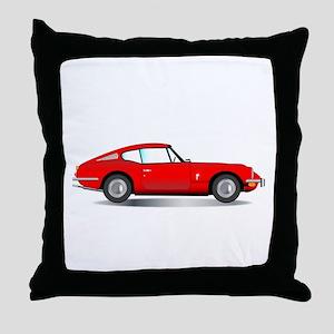 Old Hard Top Sports Car Throw Pillow