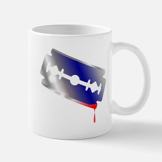 Blooded Razor Blade Mugs