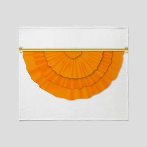 Orange Flag Bunting Throw Blanket