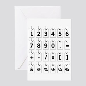 Tag Card Numbers Greeting Cards