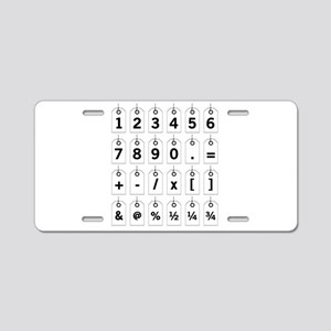 Tag Card Numbers Aluminum License Plate