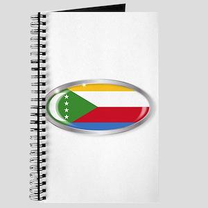 Comoros Flag Oval Button Journal
