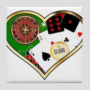 Love Gambling Tile Coaster