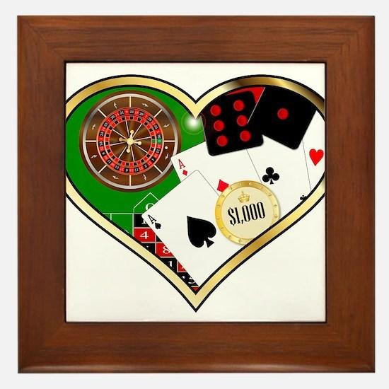 Love Gambling Framed Tile