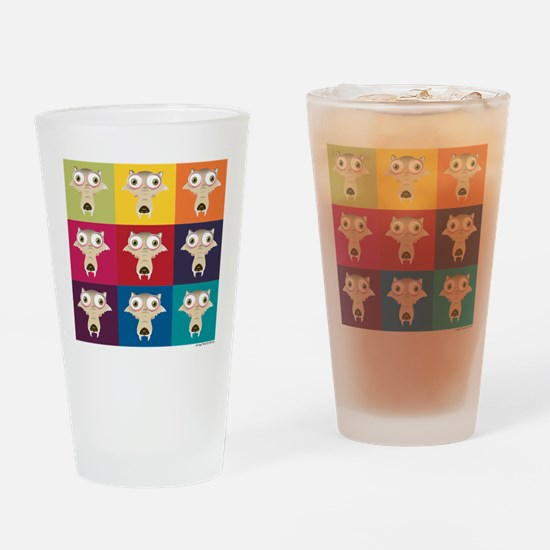 Ice Age Scrat Squares Drinking Glass