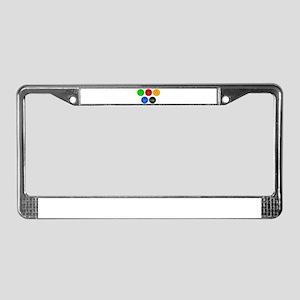Gambling Chip Set License Plate Frame
