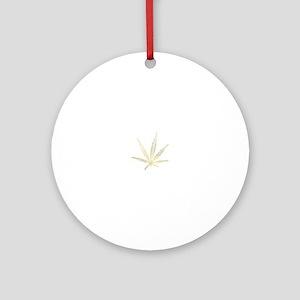 cannabis Round Ornament