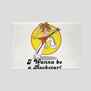 Wanna Be a Rockstar Rectangle Magnet