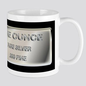 One Ounce Silver Ingot Mugs