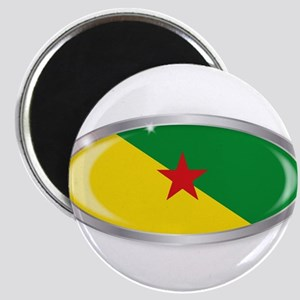 French Guiana Flag Oval Button Magnets