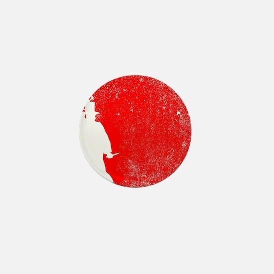 Ripper Red Grunge Mini Button