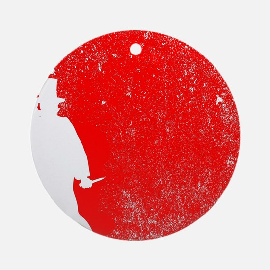 Ripper Red Grunge Round Ornament