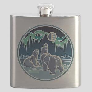 Native Bear Art Flask