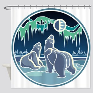 Native Bear Art Shower Curtain