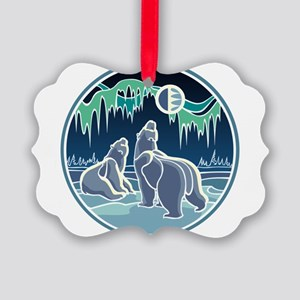 Native Bear Art Picture Ornament