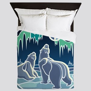 Native Bear Art Queen Duvet