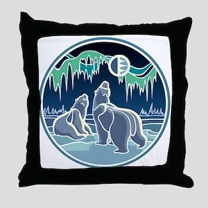 Native Bear Art Throw Pillow