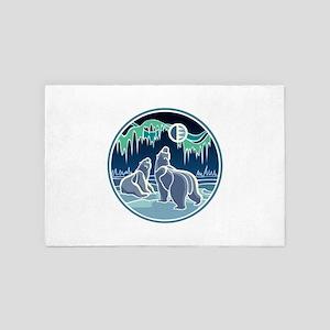 Native Bear Art 4' x 6' Rug