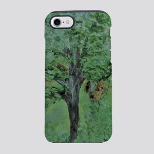 Palette Knife Tree on Wood iPhone 8/7 Tough Case