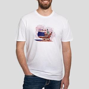 USA FIREWORKS STARS STRIPES LADY LIBERTY T-Shirt