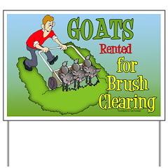 LawnMower Goats Yard Sign
