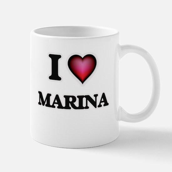 I Love Marina Mugs