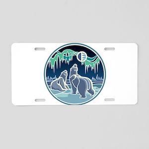 Native Bear Art Aluminum License Plate