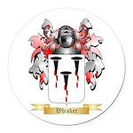 Whisker Round Car Magnet