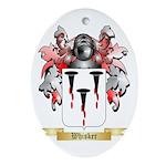 Whisker Oval Ornament