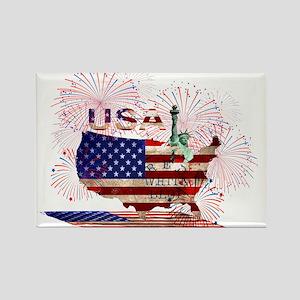 USA FIREWORKS STARS STRIPES LADY LIBERTY Magnets