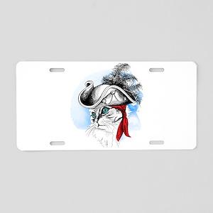 Pirate Kitty Aluminum License Plate