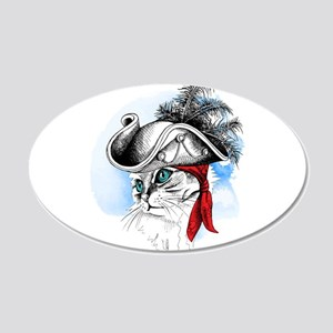 Pirate Kitty Wall Decal