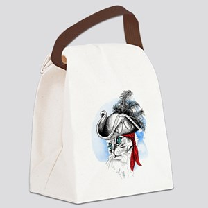 Pirate Kitty Canvas Lunch Bag