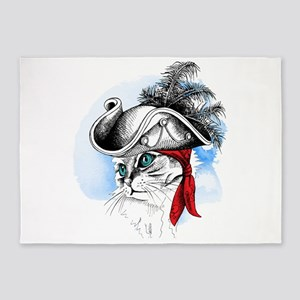 Pirate Kitty 5'x7'Area Rug