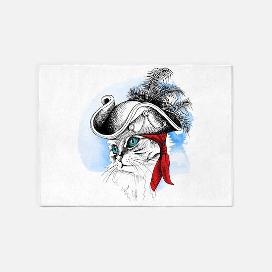 Pirate Kitty 5'x7'Area Rug