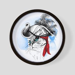 Pirate Kitty Wall Clock