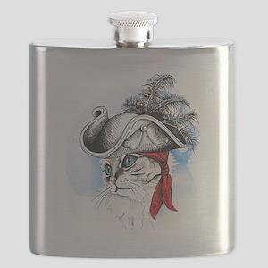 Pirate Kitty Flask