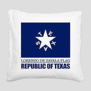 Zavala Flag Square Canvas Pillow
