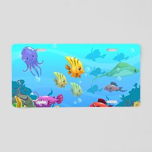 Cute Fish Aluminum License Plate