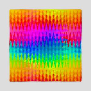 Rainbow Color Waves Queen Duvet