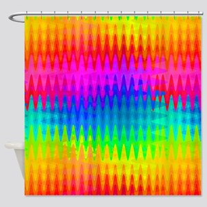 Rainbow Color Waves Shower Curtain